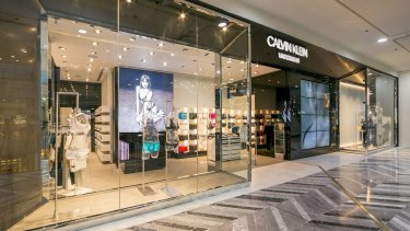 The new Calvin Klein Underwear store at Canberra Centre.