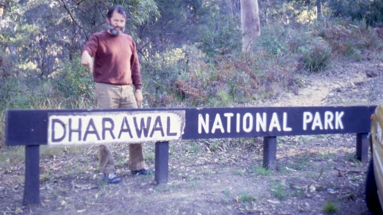 An anti-monarchist and pro-Aboriginal Land Rights protest saw the 'Royal' covered on a 'Royal National Park' sign as part of a tribute to the original inhabitants of the area.