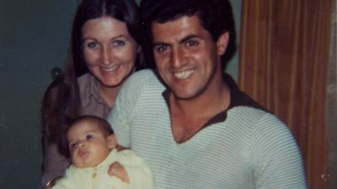 Rhondda and her husband John with their daughter Sarah in 1982.