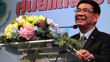 Thailand's Election Commissioner Somchai Srisutthiyakorn announces that voters had backed a constitution that lays the foundation for a civilian government influenced by the military and controlled by appointed officials.