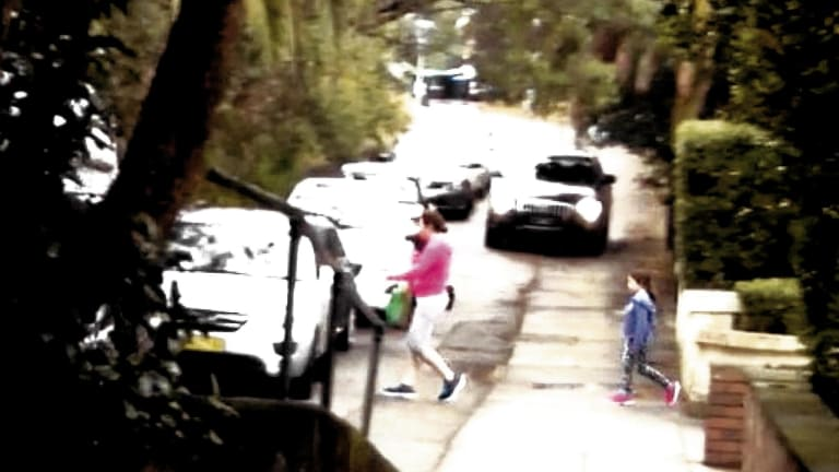 """This picture shows """"a conflict between vehicles using the service road and residents exiting a house with a frontage to the service road"""", the judgment found."""
