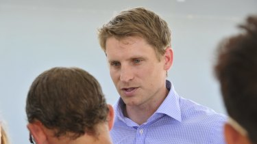 """New federal Liberal MP Andrew Hastie gets """"uncomfortable when people start calling Australia a Christian nation""""."""