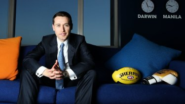 Tom Waterhouse, chief executive of bookmaker William Hill's Australian arm. Bookmakers are lobbying to legalise a controversial in-play betting product.