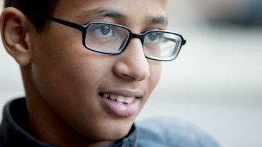 Ahmed Mohamed, the 14-year-old who was arrested in Irving, Texas for allegedly bringing a hoax bomb to school.