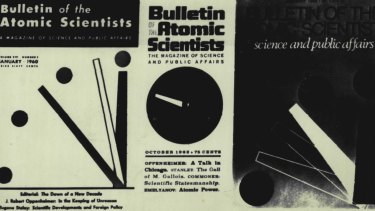 The Doomsday Clock first appeared on the cover of the Chicago-based Bulletin of the Atomic Scientists.
