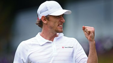 Injury scare: John Millman in action at Wimbledon earlier this year.