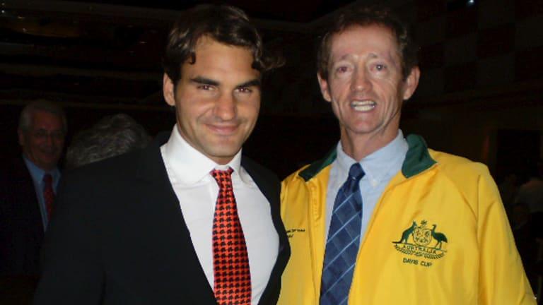 Peter Doohan with Roger Federer.