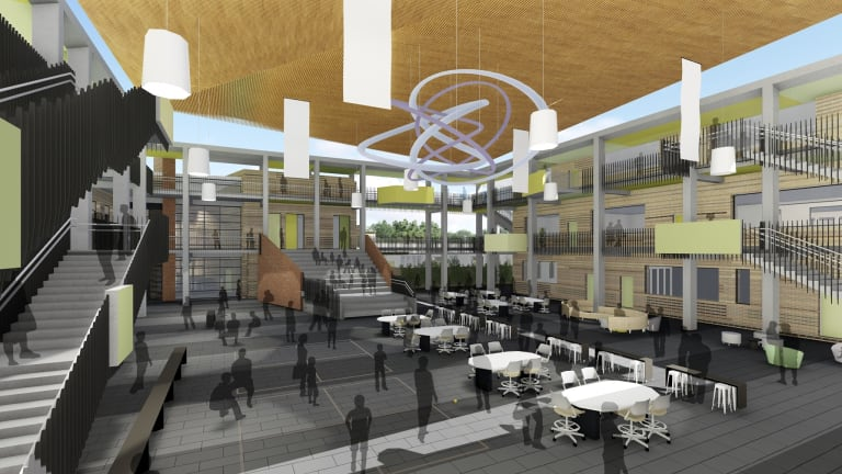 St Luke's will feature specialist learning spaces as well as open, landscaped areas for sport.