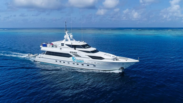 GBR Legacy's research vessel. Plans are underway for another mission in May if funds can be found.