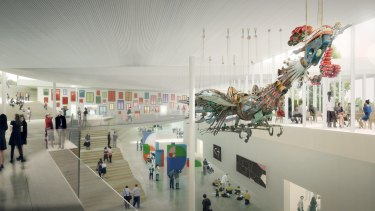 An artist's impression of the Sydney Modern Project atrium.