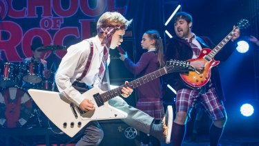 A scene from School Of Rock at the New London Theatre.