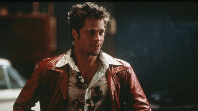 Brad Pitt in the 1999 cult classic <i>Fight Club</i>.