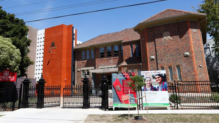 Rich school: Government funding is up 38 per cent at Korowa Girls School in Glen Iris.