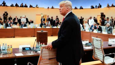 US President Donald Trump has found himself isolated at the G20 summit on the issue of climate change.