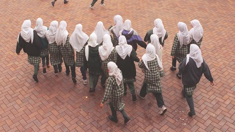 Students play at the Malek Fahd Islamic School