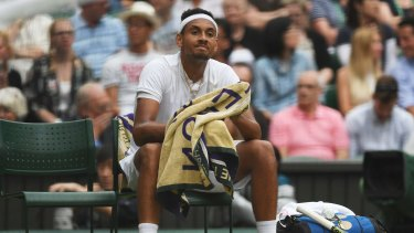"Nick Kyrgios: ""As soon as I lost the first set, I just lost belief. Obviously felt like a mountain to climb after losing the first."""