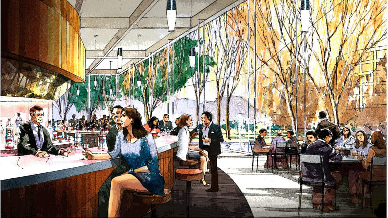 A drawing of what the redeveloped Casino Canberra could look like under Aquis' plan.