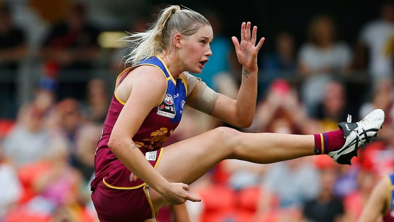 Tayla Harris is highly sought and wants to play in Victoria.