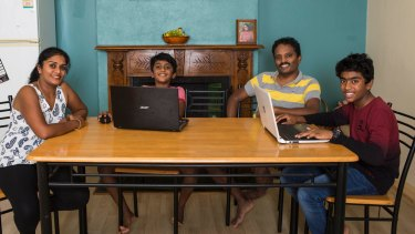 The Margapuram family - Sunitha, Taran (aged 9), Rajesh and Tejas (14) - try to balance the use of technology in their lives.