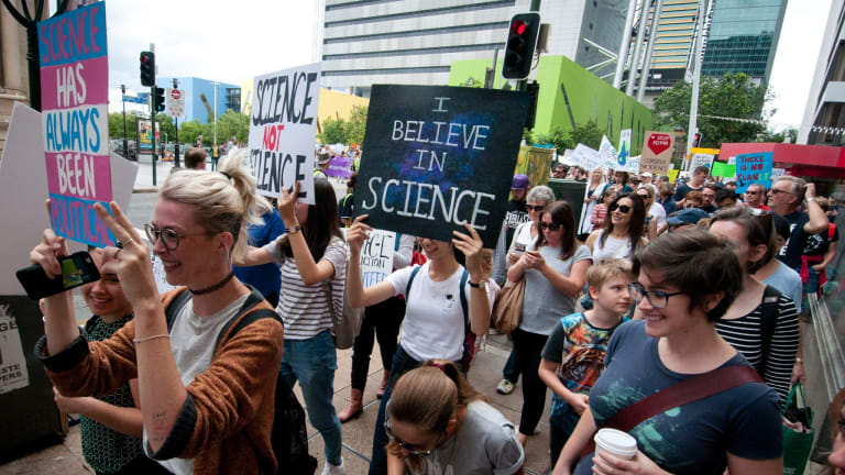 More than a thousand people stormed the streets of Brisbane to show their support for science across the world.