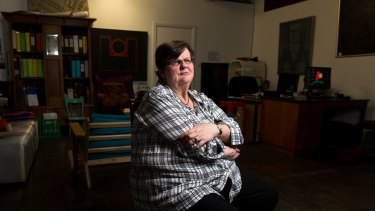 Ricci Bartels, in the Addison Road Community Centre in Marrickville, where she volunteers, after losing her job.