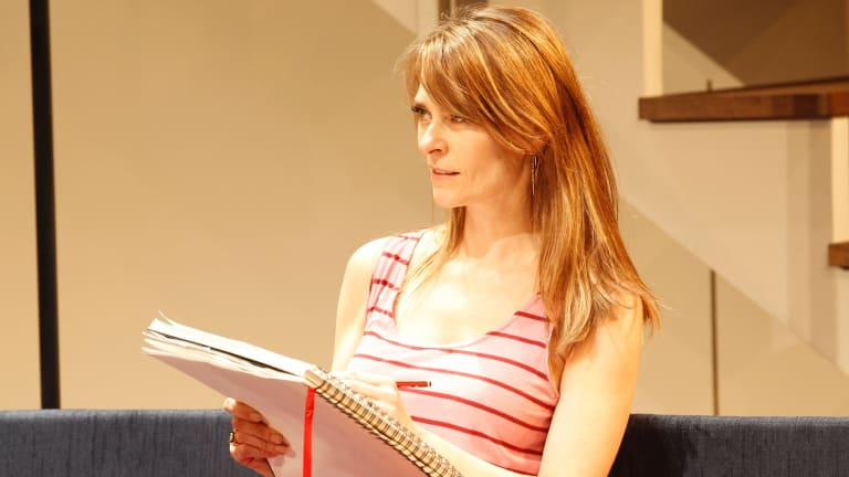 Kat Stewart (Emily) in the Melbourne Theatre Company Production of Disgraced.