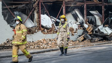 Fire gutted the iconic Little Saigon market on Tuesday.
