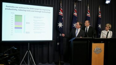 Environment Minister Greg Hunt outlines the Coalition's emissions reduction target.
