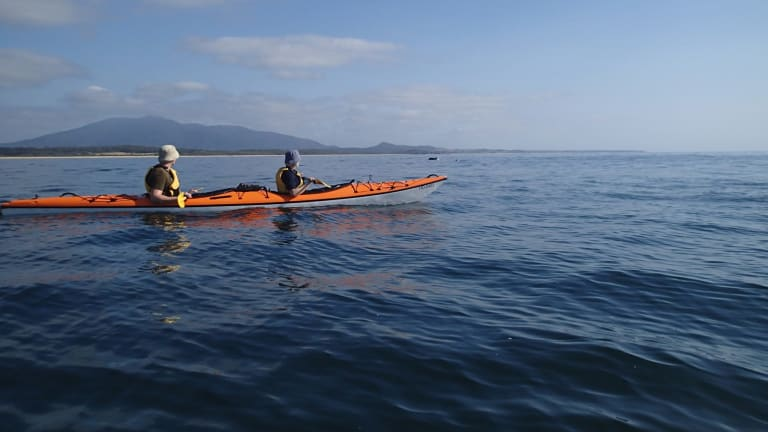 Exploring the south coast via kayak.