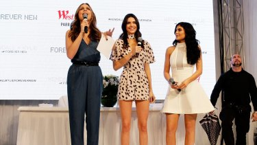 Kendall and Kylie Jenner to the stage at Westfield Parramatta on November 17, 2015 in Sydney.