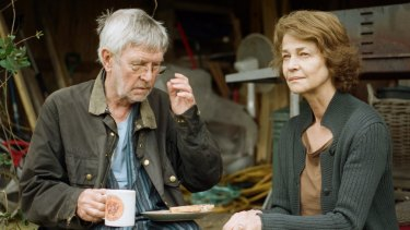 Geoff (Tom Courtenay) and Kate (Charlotte Rampling) face a marital crisis in <i>45 Years</i>.