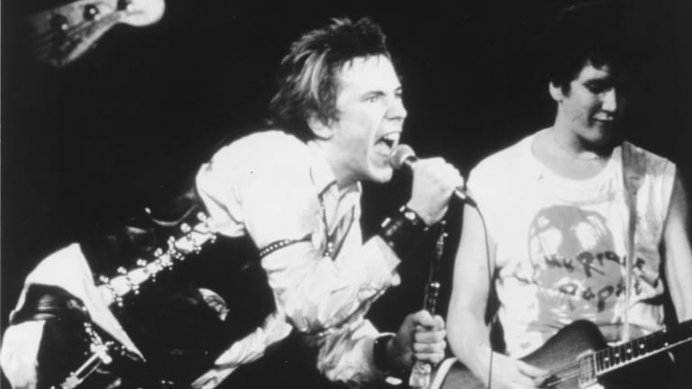 The Sex Pistols in full fury, live in 1978.