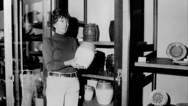 Archaeologist Judy Birmingham, seen here in 1971, has been given a lifetime achievement award by the National Trust of NSW.