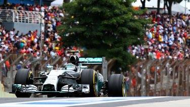 Nico Rosberg pipped teammate Lewis Hamilton.