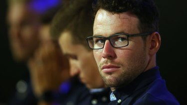 Angry: Mark Cavendish.