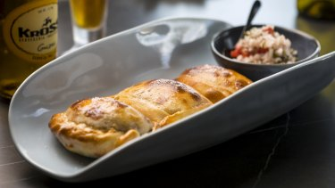 Citrico's empanadas come in three versions (beef, pork and vegetarian).