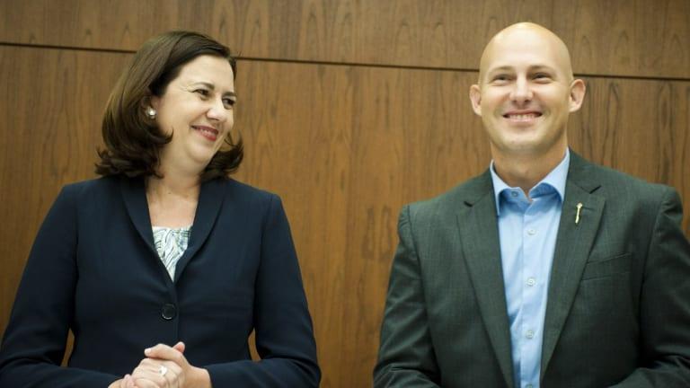 Premier Annastacia Palaszczuk and treasurer Curtis Pitt.