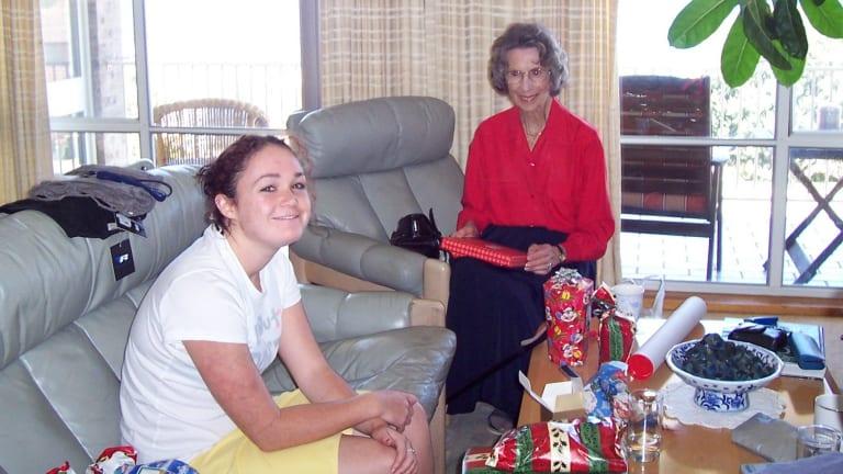 Nan Waddy with her granddaughter Amanda.