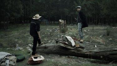 Wild one: Cullen with author Erik Jensen (at right).