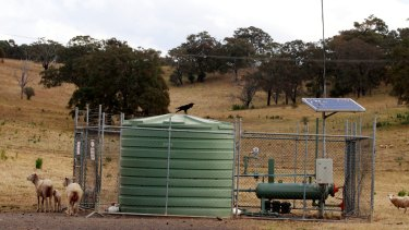 An AGL coal seam gas well on Sydney's south-west fringe.