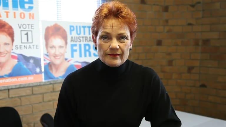 One Nation leader Pauline Hanson controls three senators in the new Parliament including Mr Roberts.