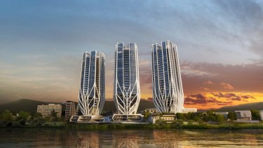 A radical design for three apartment buildings on the site of the former ABC Toowong studios is set for approval.
