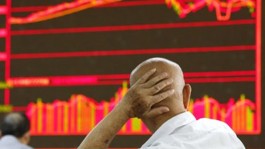The Shanghai Composite Index dropped 2.9 per cent at 10:01 am local time, adding to a two-day, 2 per cent retreat.