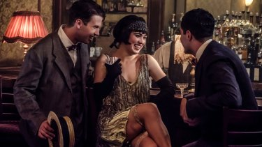 Haley Lu Richardson as Louise Brooks in The Chaperone.