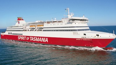 The man was seen falling from the Tasmania-bound ferry.