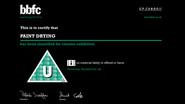 """""""£5936 well spent"""": The censorship board classified the film """"U"""": no material likely to offend of harm."""