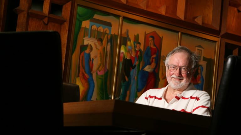 Divall in his 'spiritual home', Newman College at the University of Melbourne, in 2009.