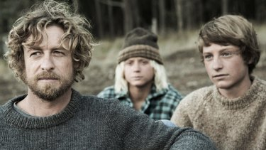 Simon Baker (left), Samson Coulter and Ben Spence in Breath.
