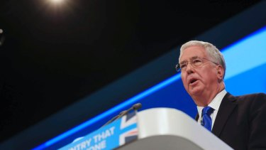 Britain's recently resigned defence minister Michael Fallon