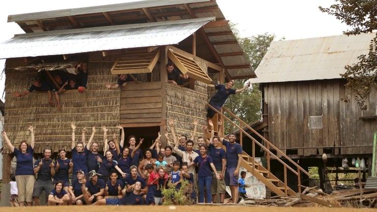 Move on in: UNSW students collaborate with industry and Rawimapct.org to design and build housing in Cambodia.